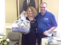 Ben Loggins presents Susan Langford our first door prize.