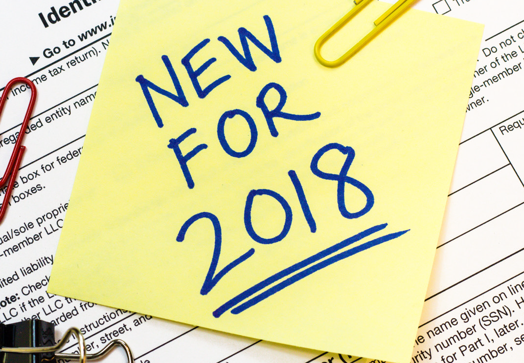New Tax Laws for 2018